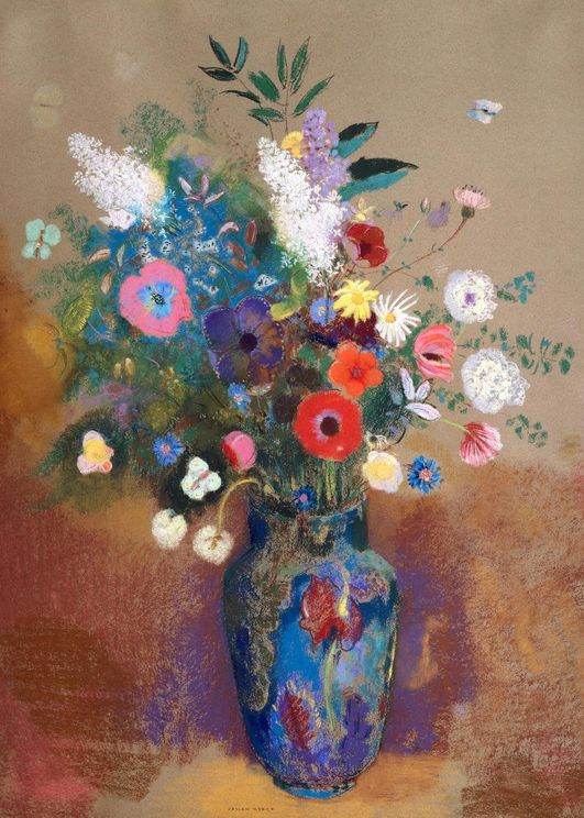 Bouquet Of Flowers By O.Redon