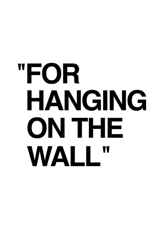 For Hanging On The Wall