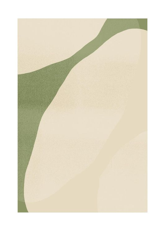 Green Beige Abstract