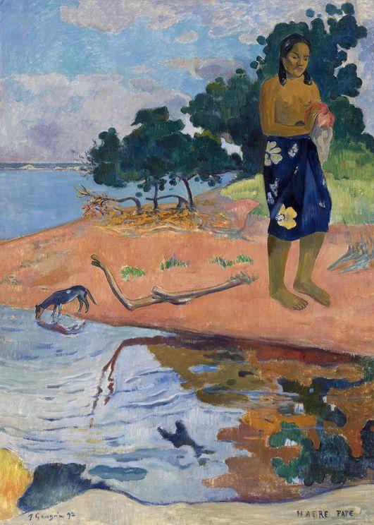 Haere Pape By Gauguin