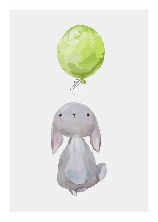 Hare With Balloon