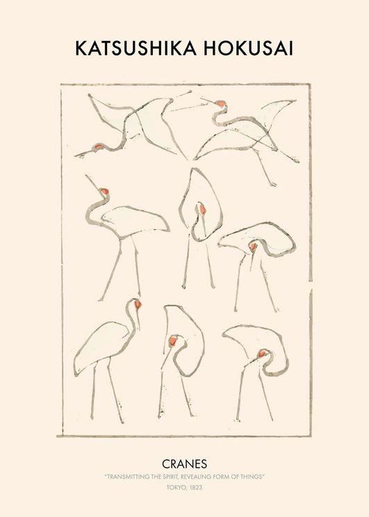 Hokusai Cranes