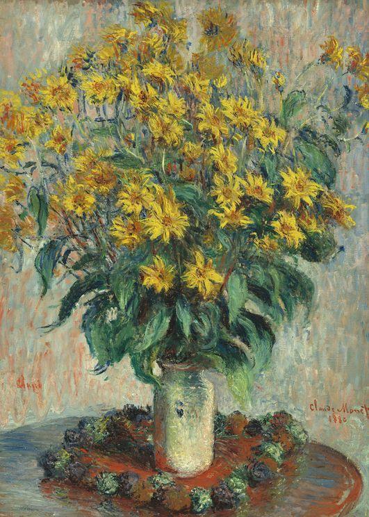 Jerusalem Artichoke Flowers By Monet