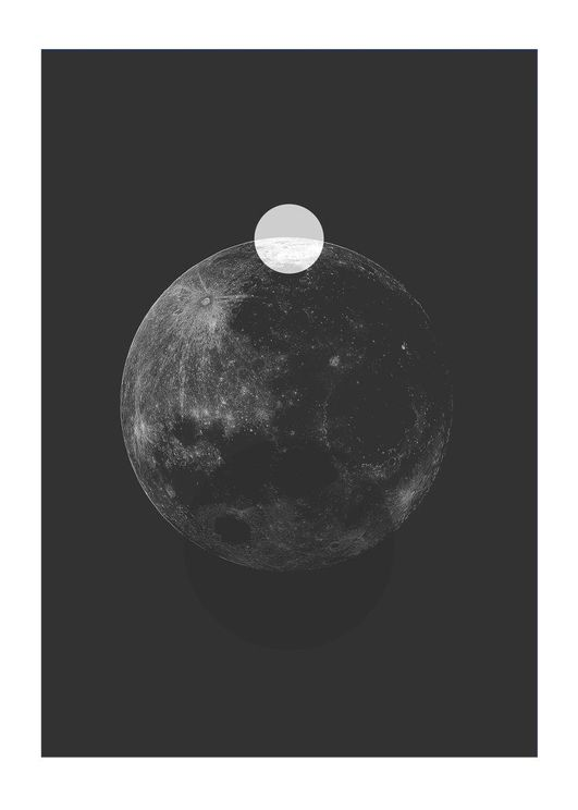 Moon Projection Black