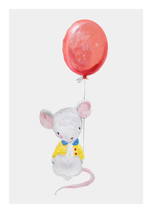 Mouse With Balloon