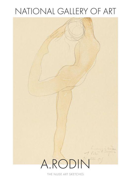 Nude Art Sketch 3 By Auguste Rodin
