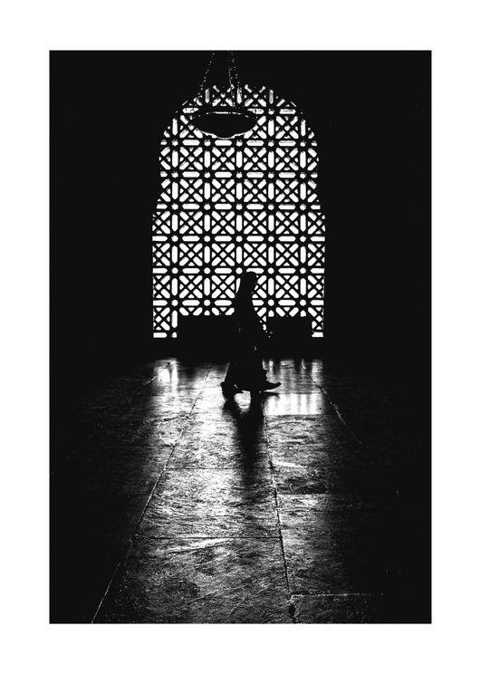 Nun Walking In Light