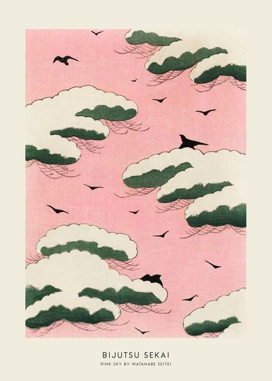 Pink Sky By Watanabe Seitei
