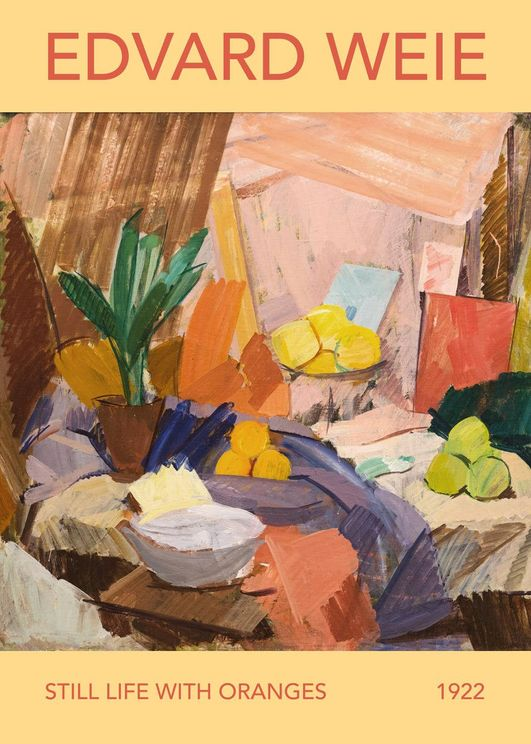 Still Life With Oranges By Edvard Weie