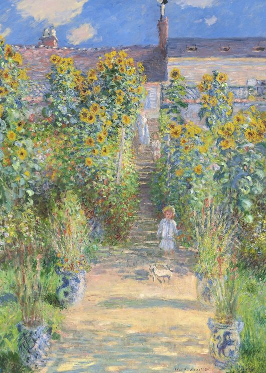The Artist's Garden At Vétheuil By Monet
