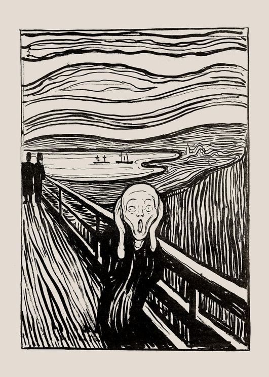 The Scream Illustration By Munch