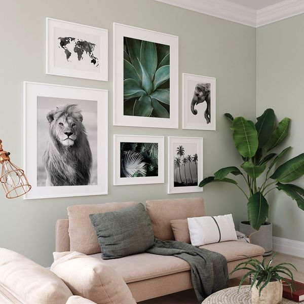 Tropical green photo wall