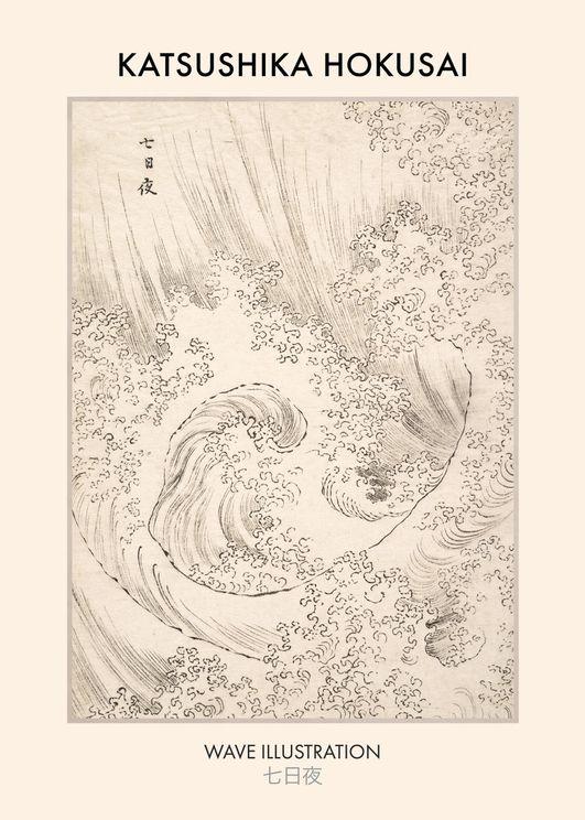 Wave By Katsushika Hokusai